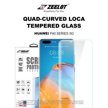 Dán màn hình Huawei P40 Pro - Kính cường lực keo UV Zeelot